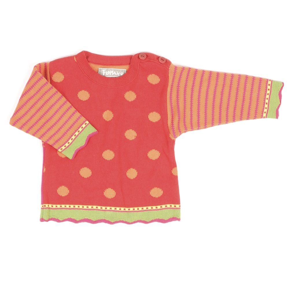 Pullover Birdy Baby mohnrot|bunt